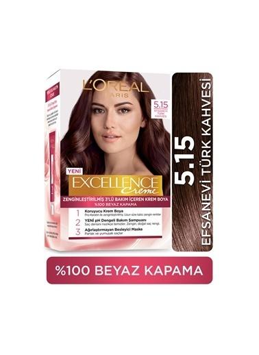 L'Oréal Paris Excellence Creme Saç Boyası - 5.15 Efsanevi Türk Kahvesi Renksiz
